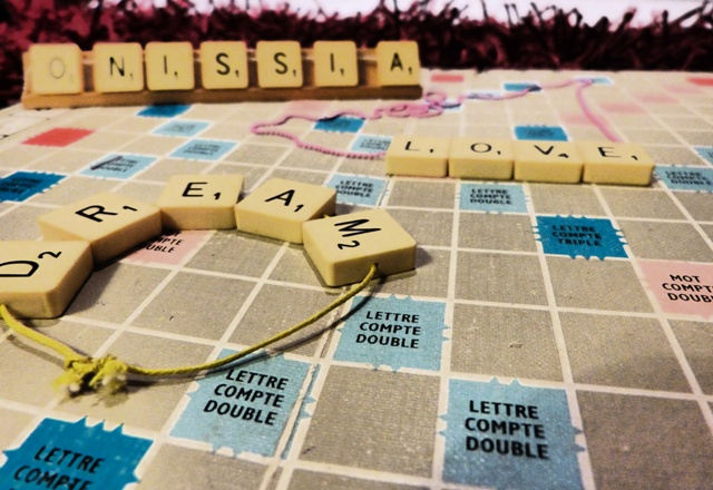 Scrabbled Necklace